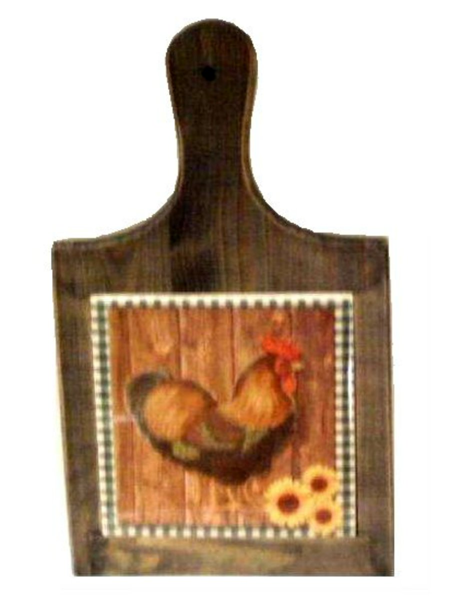 Rooster Cutting Board Country Roosters Kitchen Decor