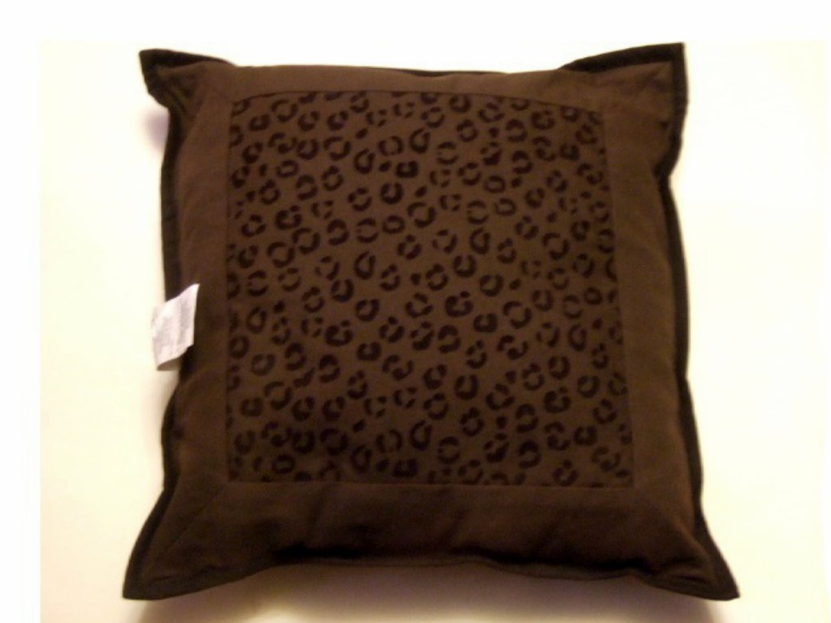 Brown Cheetah Print Decorative Pillow
