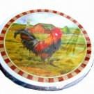 Country Rooster Themed Range Stove Burner Covers