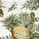 Tropical Tablecloth Pineapples Flowers Table Topper