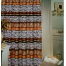 Zebra Leopard Print Fabric Shower Curtain