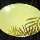 Botanical Palm Tree Fronds Kitchen Platter
