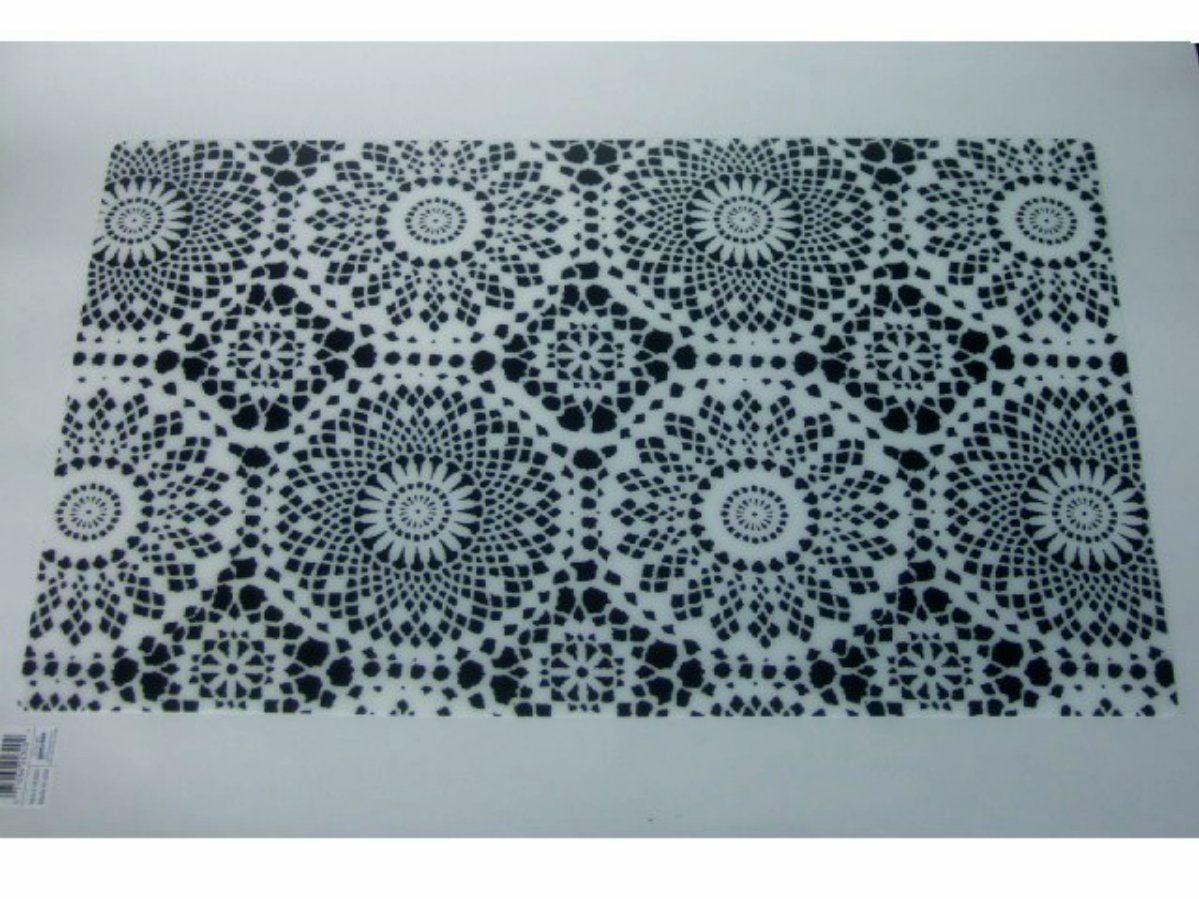 Black White Doily Design Placemats Set