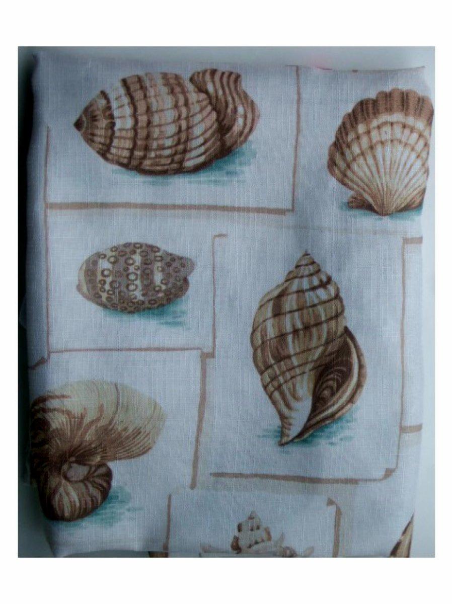 Seashells Fabric Shower Curtain