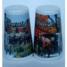 Amish Country Salt Pepper Shakers Ceramic