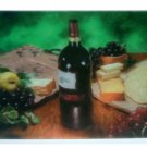 Wine Grapes Cheese Tempered Glass Cutting Board