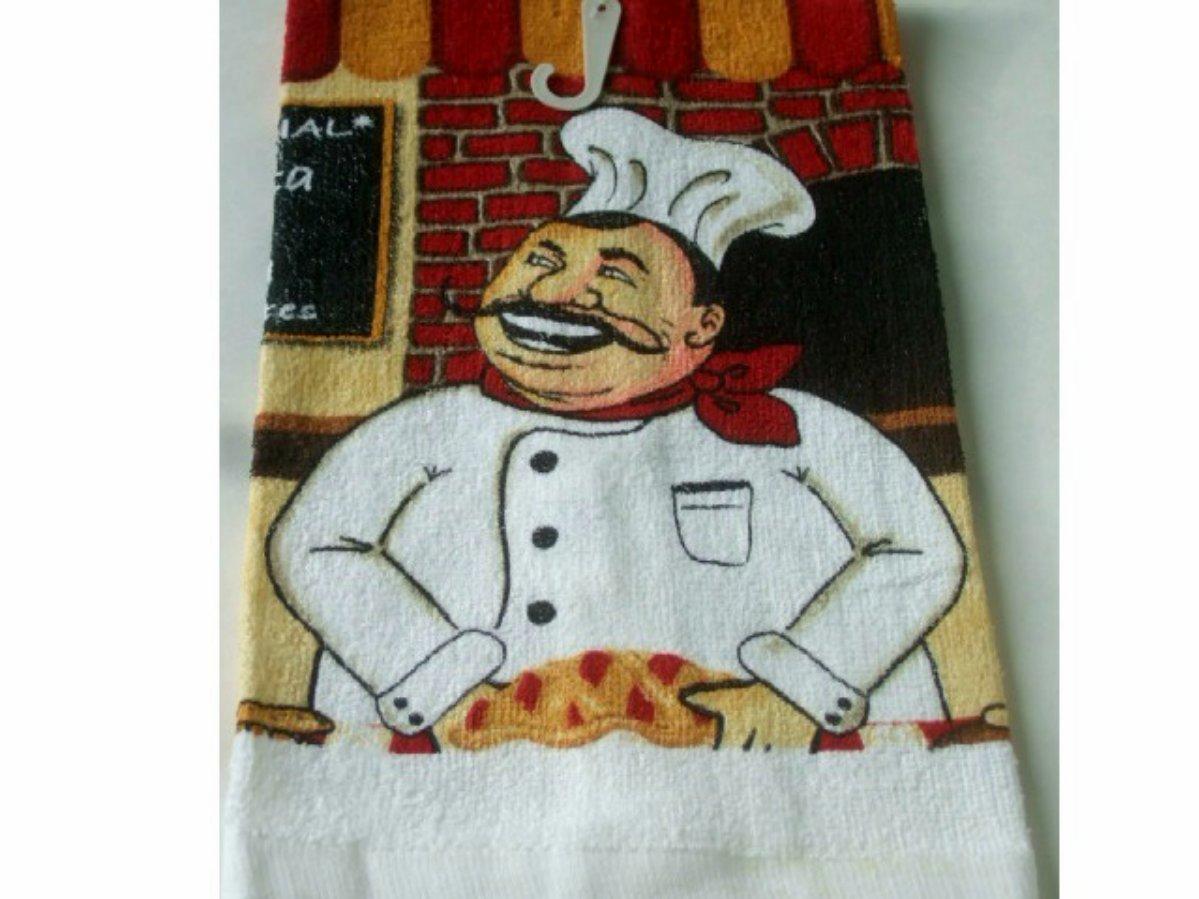 Happy Fat Chef Kitchen Towels Set
