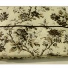 Black and Cream Floral Tablecloth
