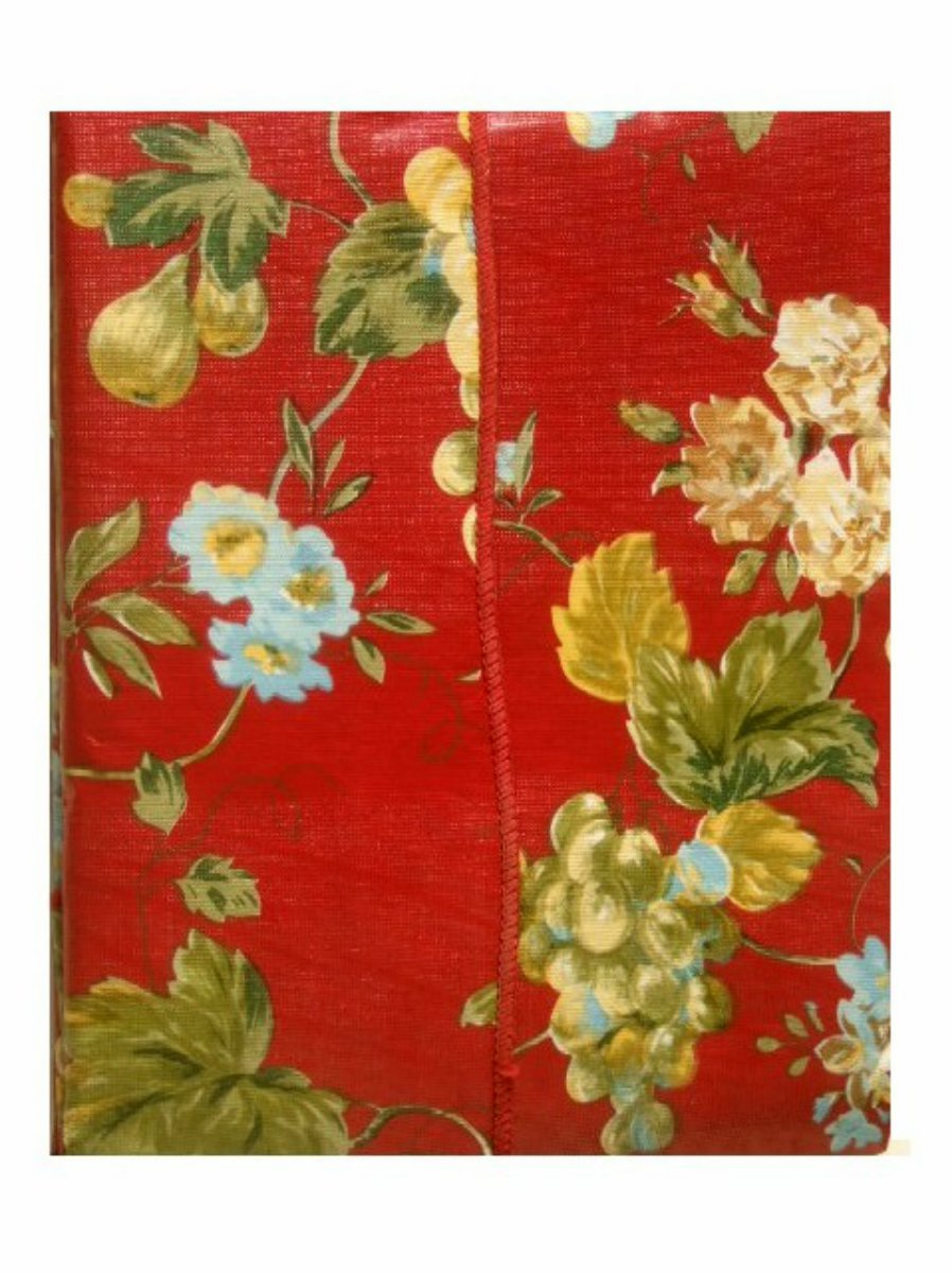 Red Floral Fruit Tablecloth