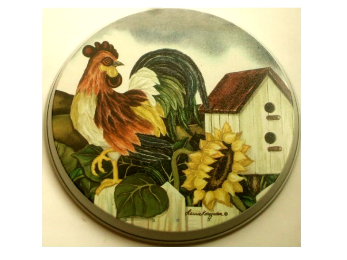 Kitchen Apples Home Decor Country Rooster Sunflower Metal Range Burner Covers