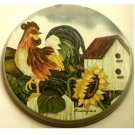 Country Rooster Sunflower Metal Range Burner Covers