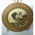 Rooster Decorative Plate with Easel