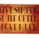 Inspirational Glass Cutting Board Live Love Smile