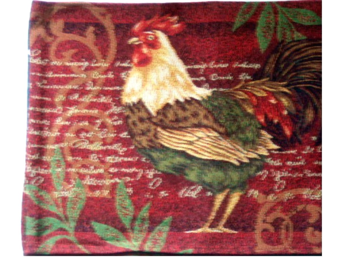 Roosters Tapestry Table Runner