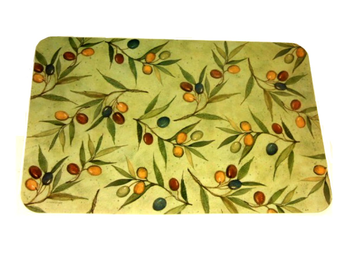 Tuscan Olives Placemats Set Reversible