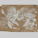 Floral Burlap Placemats Set