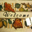Autumn Leaves Welcome Doormat Rug