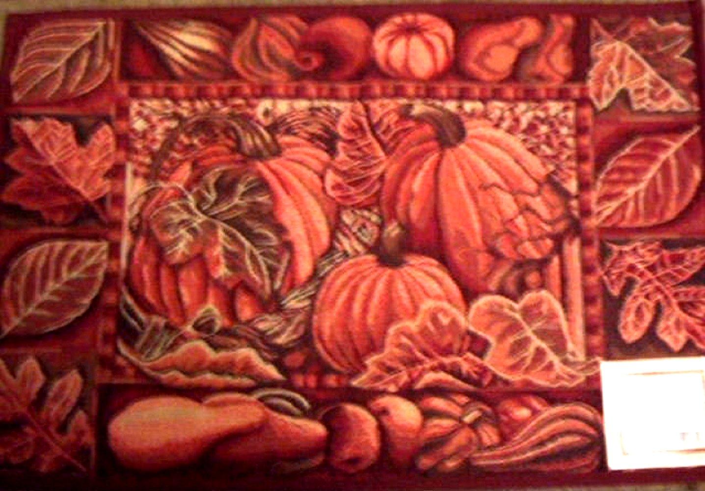 Autumn Fall Pumpkins Rug Kitchen Mat