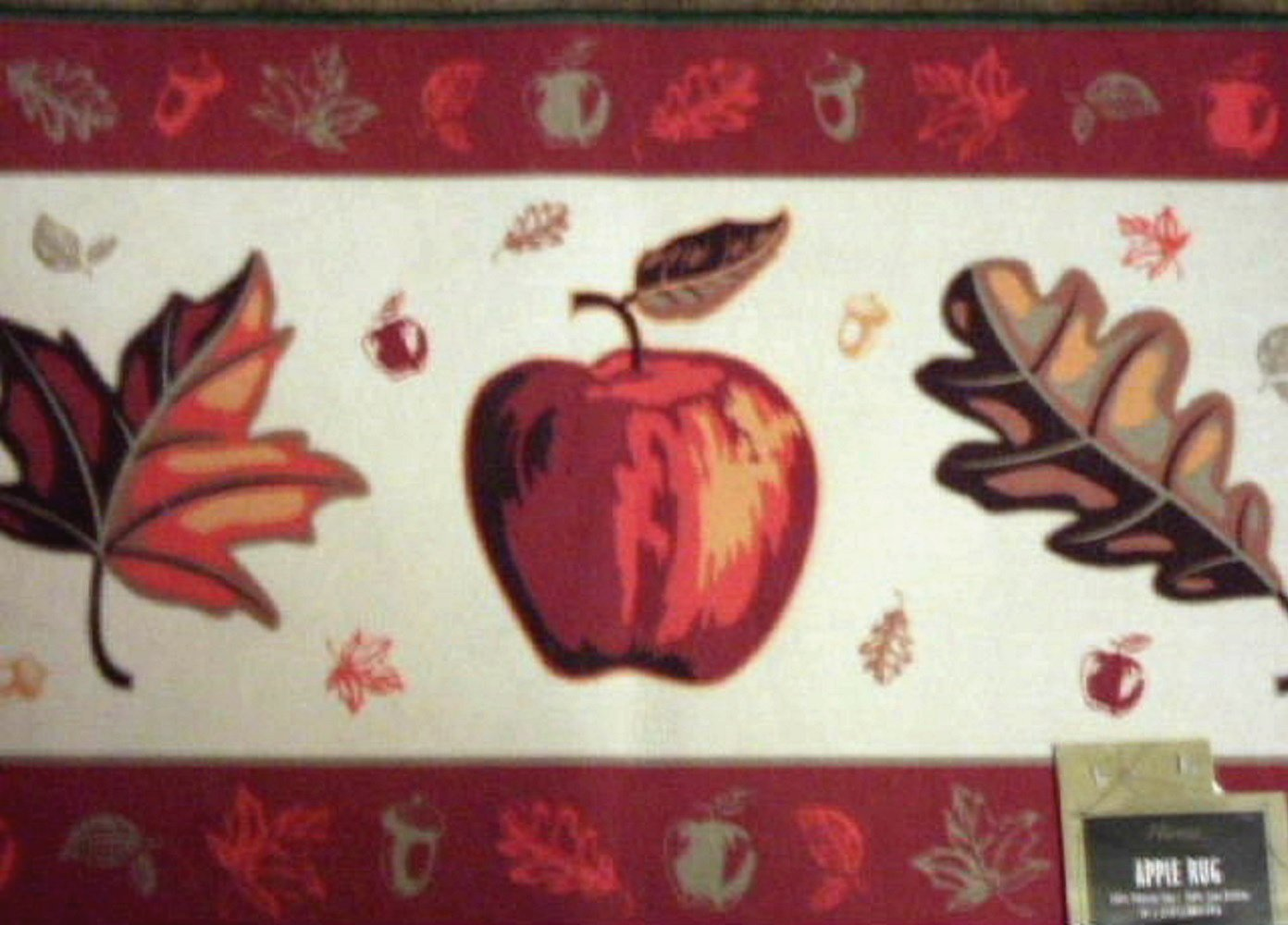 Apple Leaves Autumn Rug Fall Mat