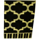 Black Ivory Fretwork Gemetric Window Treatment Set Valance Tiers