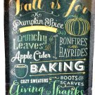 Fall Themed Wall Art Sign Autumn Favorites