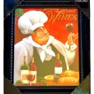 Fat French Chef Wine Kitchen Wall  Art Framed Print