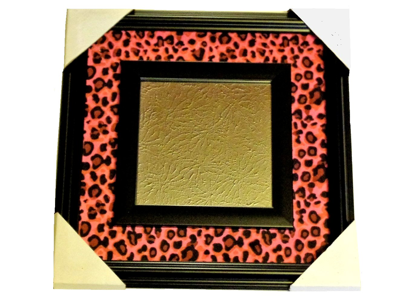 Pink Leopard Print Wall Mirror