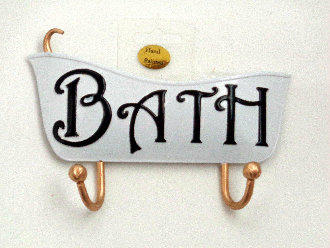 Bath Tub Sign with Wall Hooks