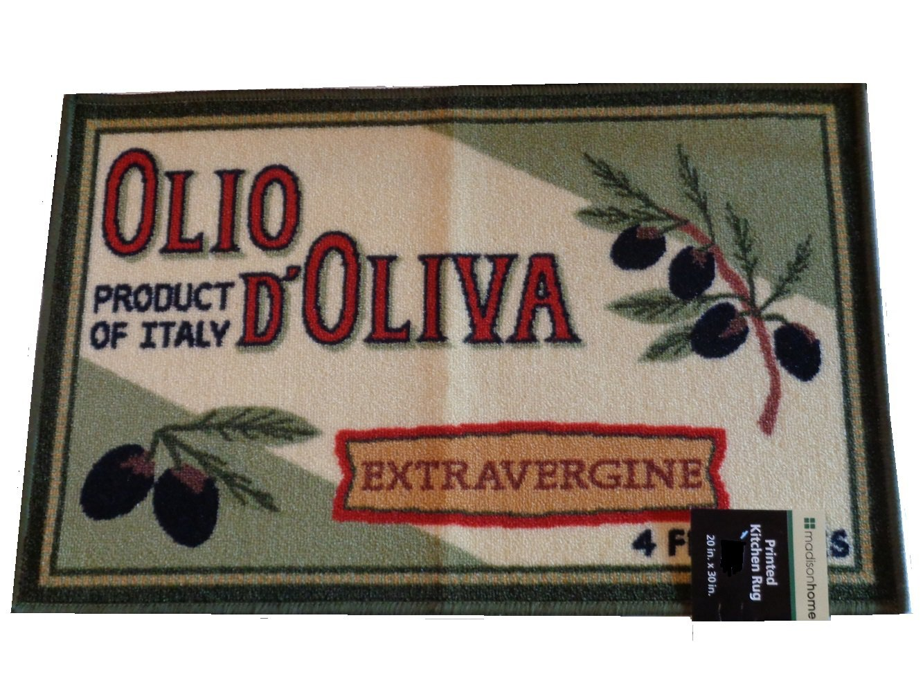 Olives Kitchen Rug Tuscan Themed Mat