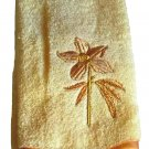 Floral Finger Tip Towels Embroidered