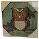 Inspirational Owl Art Canvas Metal Wall Decor