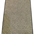 White Black Chevron Broadloom Rug Mat