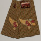 Plaid Cornucoppia Horn of Plenty Kitchen Towels
