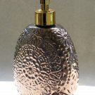 Bronze Colored Medalltion Floral Design Lotion Pump Soap Dispenser