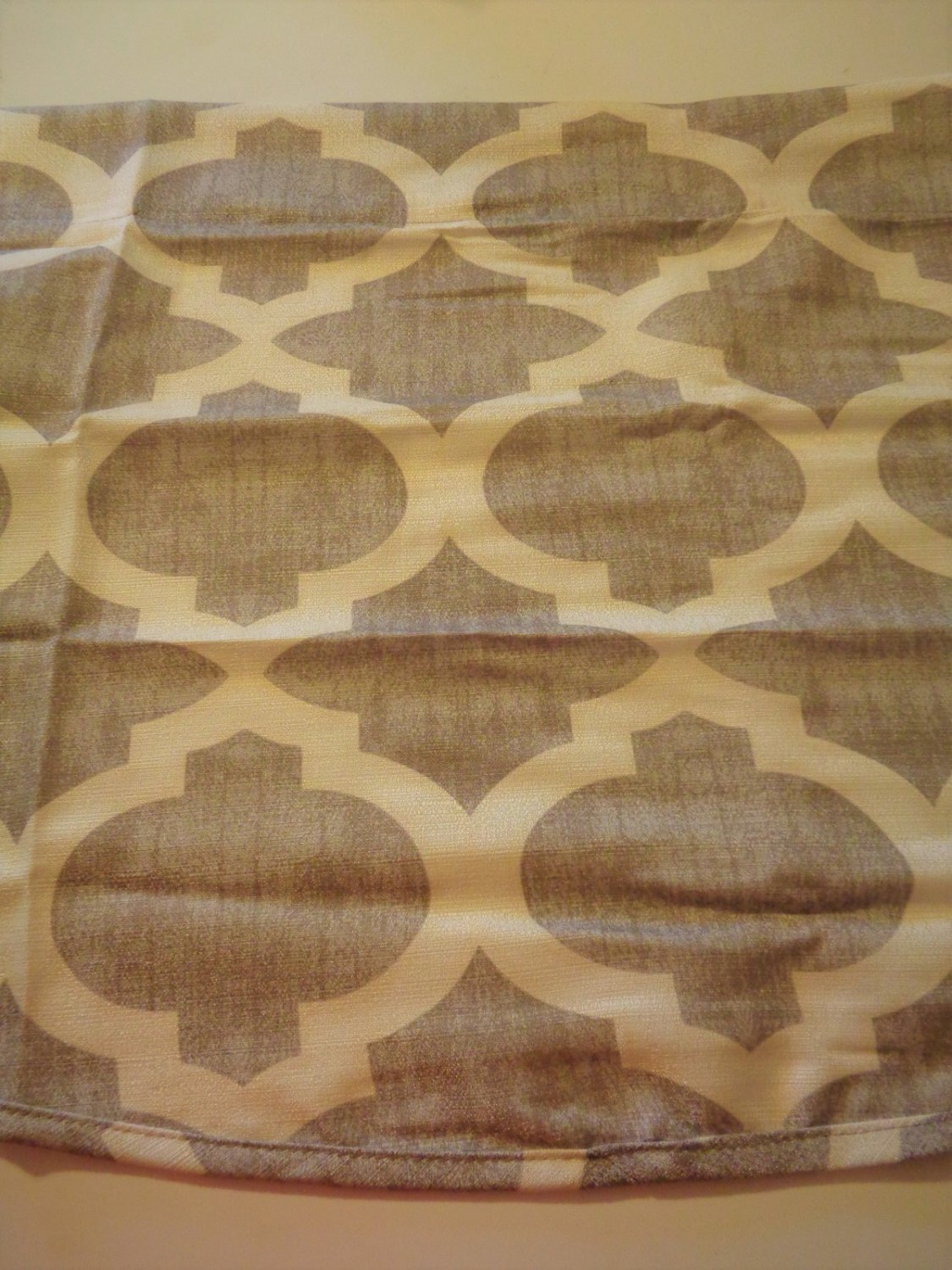 Living Colors Geometric Valance Sand and Beige