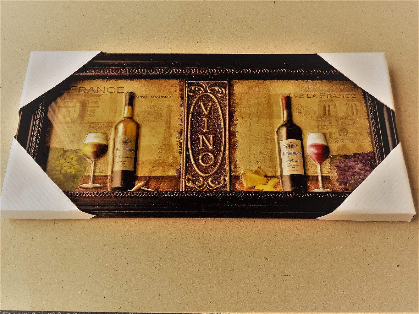 French Wine Vino Kitchen Wall Decor