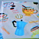 Newbridge Coffee Cups Round Tablecloth