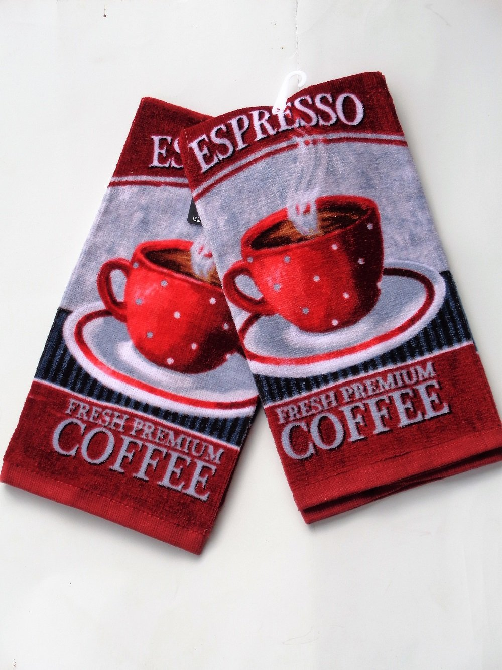 Espresso Coffee Cup Kitchen Towel Set