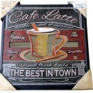 Café Latte Coffee Themed Kitchen Mirror  Wall Art
