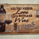 Wine Bottle Kitchen Rug Inspirational Humorous Mat