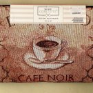 Espresso Café Noir French Coffee Cup Placemats Set