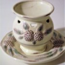 Yankee Candle Pine Cones Plate and Warmer Set