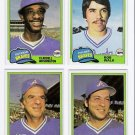1981 Topps Traded Atlanta Braves Team Set-4 Cards