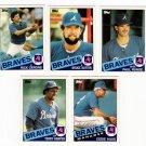 1985 Topps Traded Atlanta Braves Team Set-5 Cards