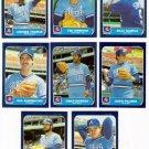 1986 Fleer Update Atlanta Braves Team Set-8 Cards