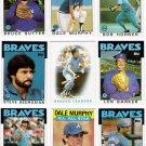 1986 Topps Atlanta Braves Team Set-29 Cards