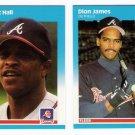 1987 Fleer Update Atlanta Braves Team-2 Cards