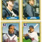 1987 Topps Traded Atlanta Braves Team Set-4 Cards