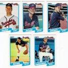 1990 Fleer Update Atlanta Braves-6 Cards