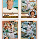 1983 Topps Traded Baltimore Orioles Team Set-4 Cards